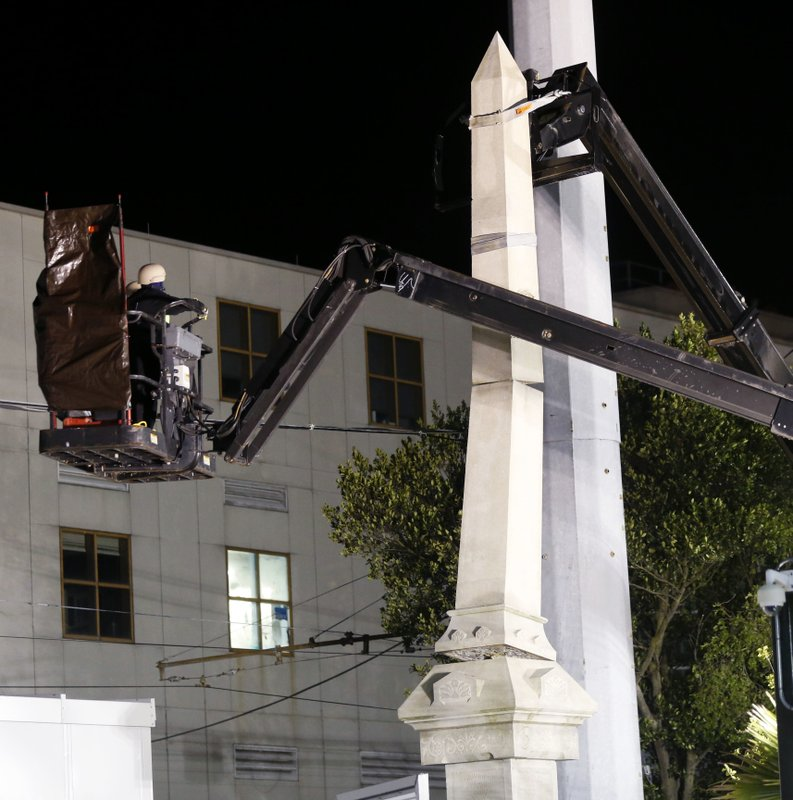 New Orleans takes down white supremacist monument