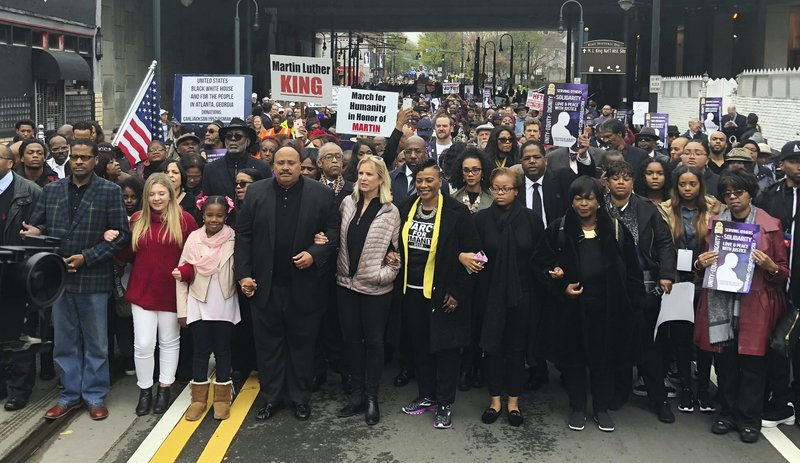 Martin Luther King III, Kerry Kennedy, Bernice King, Yolanda Renee King, Jaclyn Corin