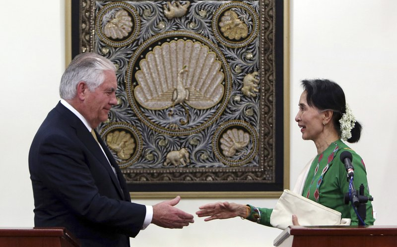 Aung San Suu Kyi, Resx Tillerson