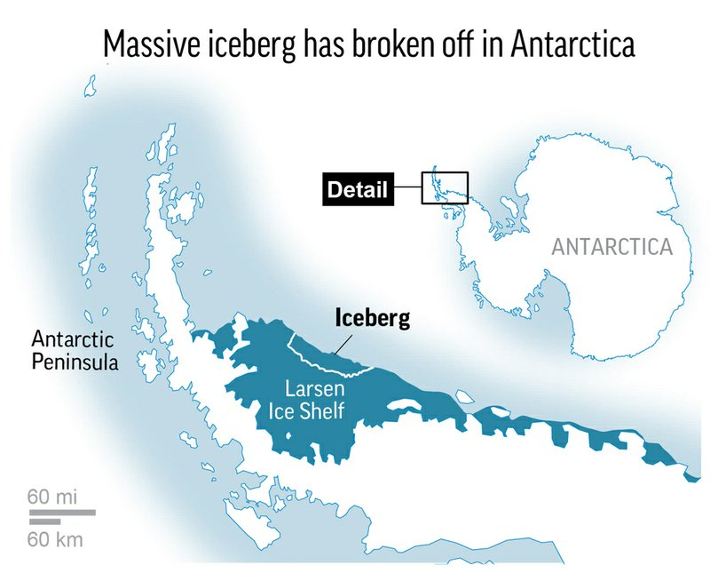 Massive iceberg breaks away