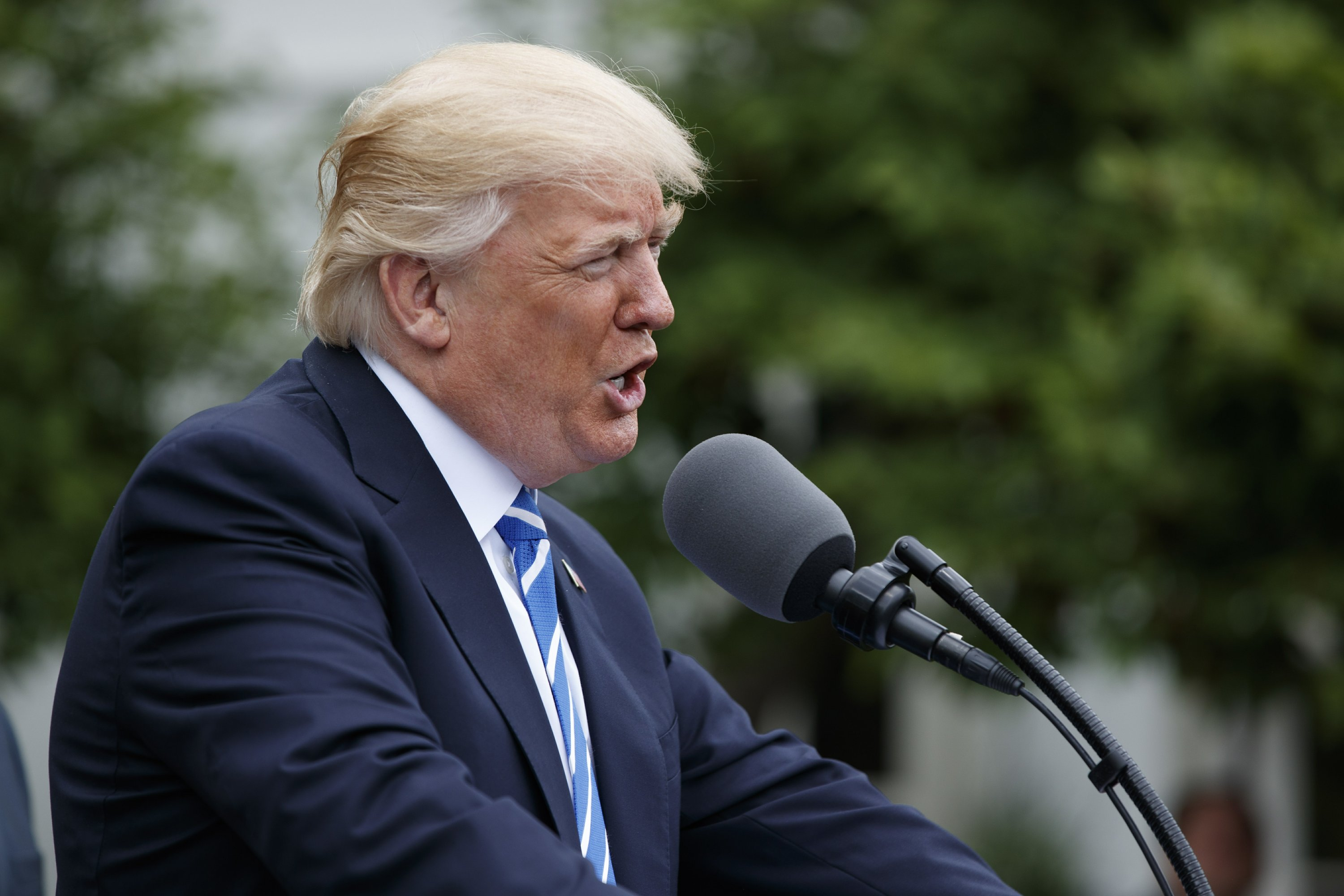Trump says he's willing to consider raising gas tax