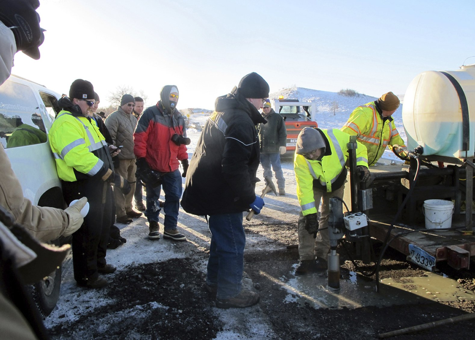 Testing completed of bridge damaged by pipeline protesters