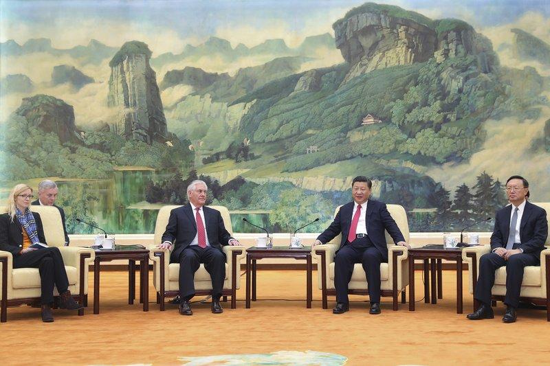 Rex Tillerson, Xi Jinping, Margaret Peterlin, Yang Jiechi