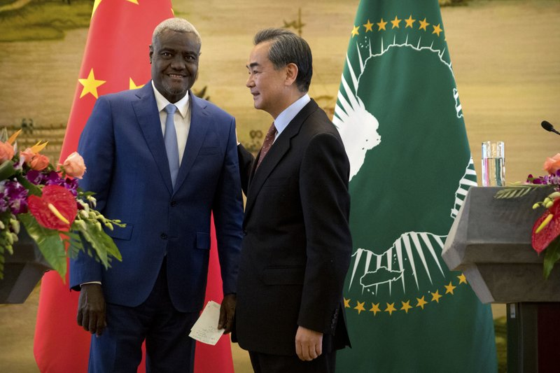 Moussa Faki Mahamat, Wang Yi