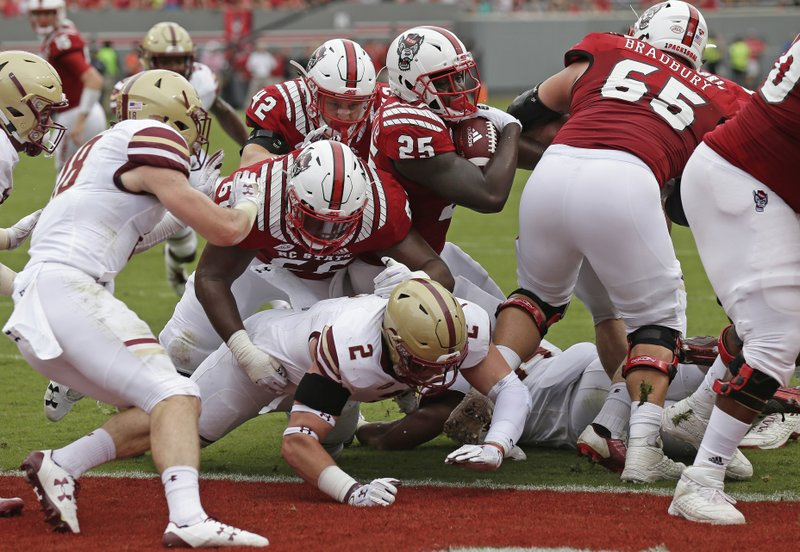 133075e3e39 No. 23 NC State holds off Boston College 28-23 to reach 5-0