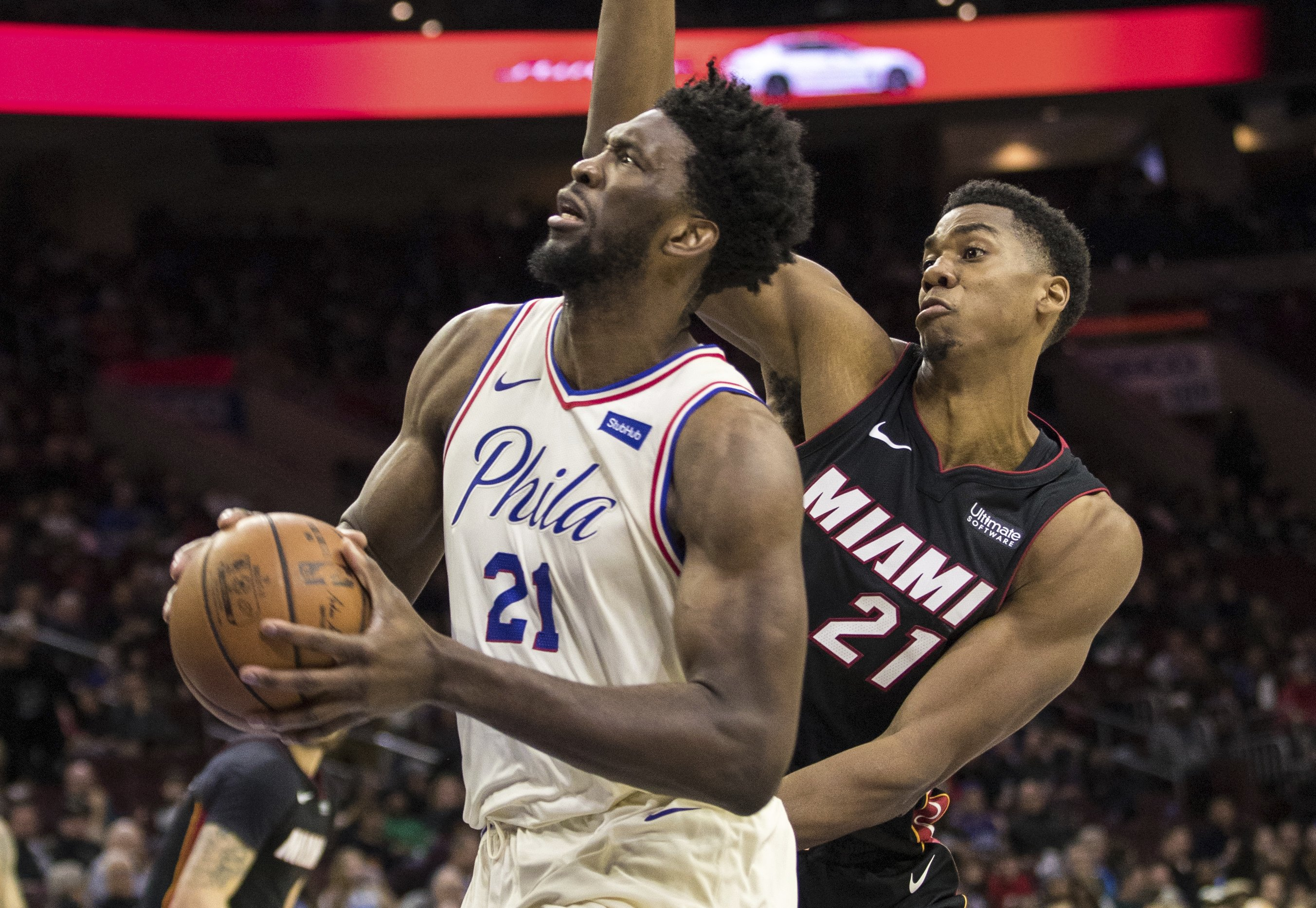76ers Get In On Philly S Super Bowl Bash With Win Over Heat