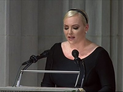 Meghan McCain directs eulogy message at Trump