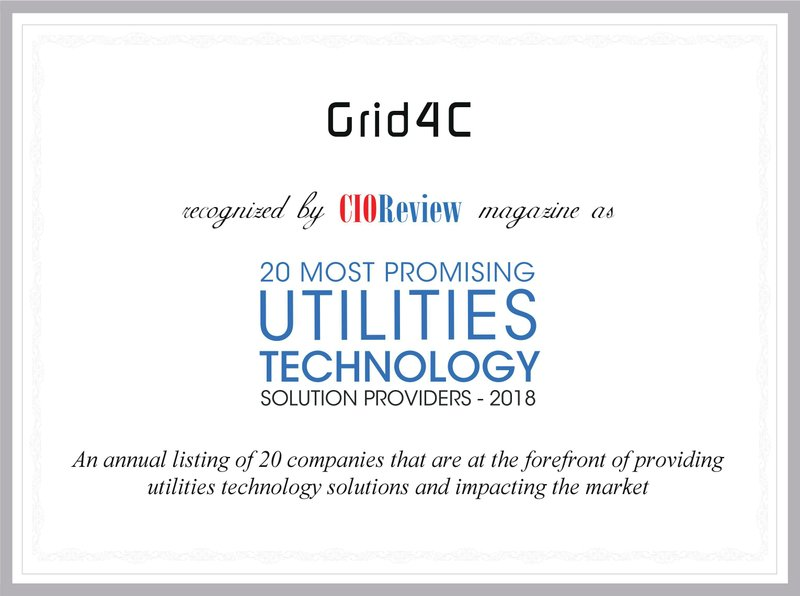 Grid4C Selected as a Top Utilities Technology Solution Provider 2018 by CIOReview