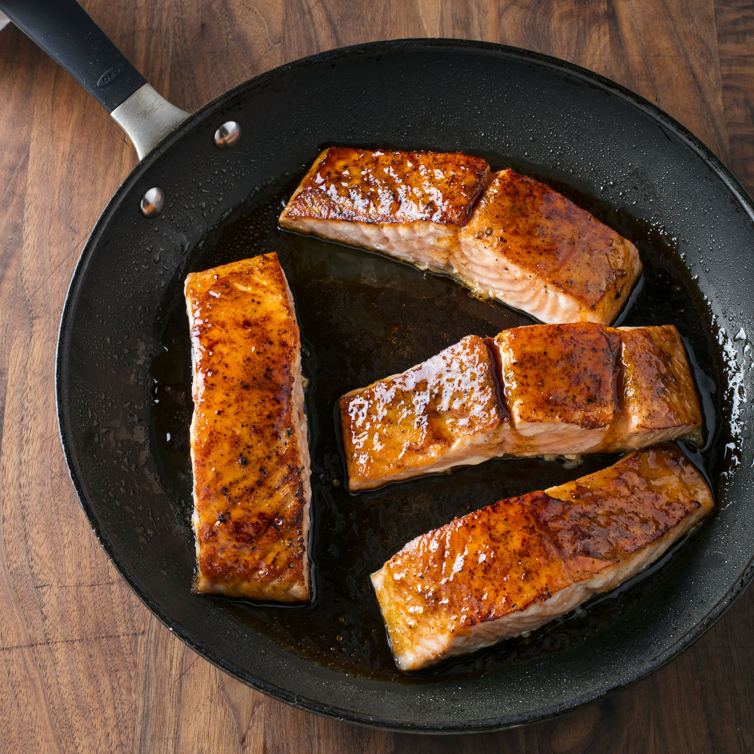 Pair a roasted salmon with a spiced-up honey-lime glaze