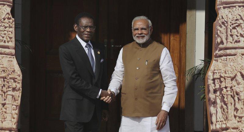 Narendra Modi, Teodoro Obiang Nguema Mbasogo