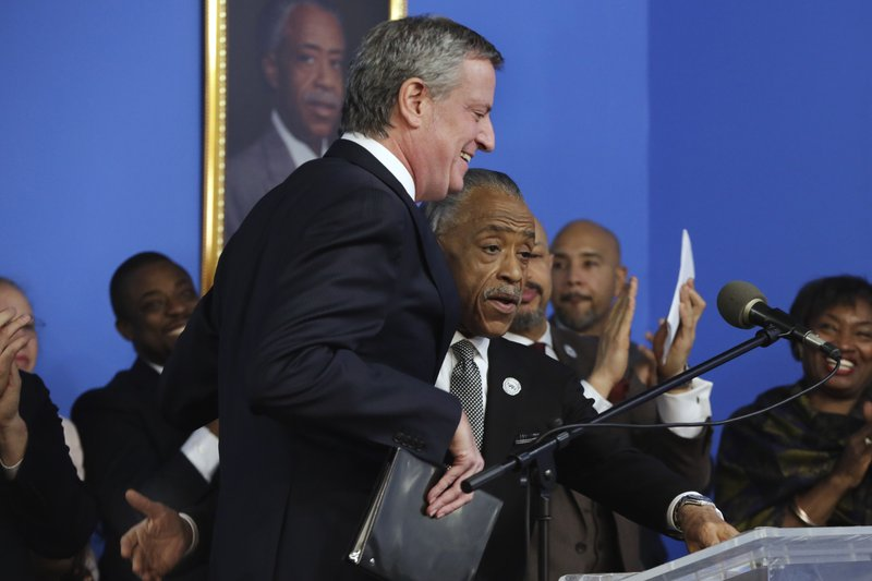 Bill de Blasio, Al Sharpton