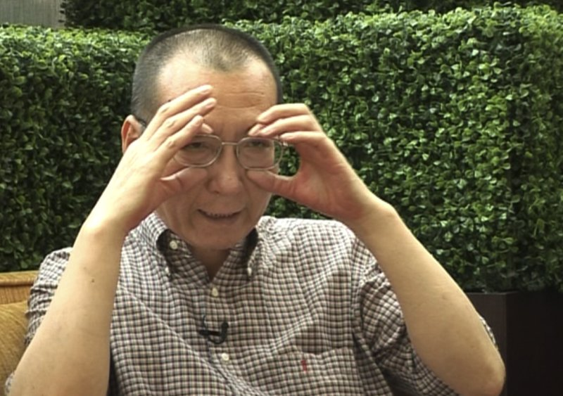 In this image taken from June 3, 2008, video footage by AP Video, Liu Xiaobo speaks during an interview before his detention in Beijing, China. The judicial bureau in the northeastern Chinese city of Shenyang says jailed Nobel Peace Prize laureate Liu Xiaobo has died of multiple organ failure Thursday, July 13, 2017, at age 61.