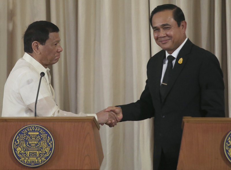Rodrigo Duterte, Prayuth Chan-ocha