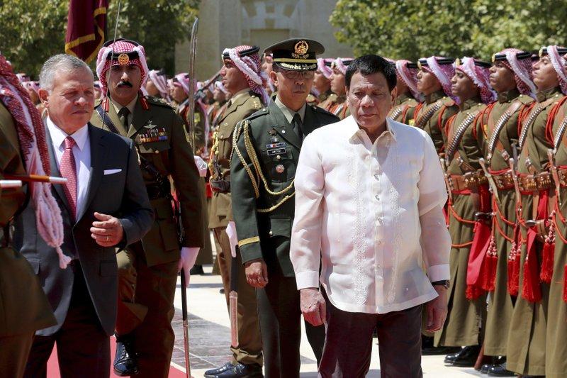 Rodrigo Duterte, King Abdullah II