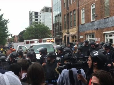 Car Strikes Group at White Nationalist Rally