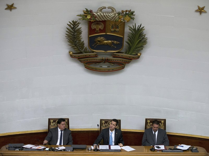 Juan Guaido, Stalin Gonzalez, Edgar Zambrano
