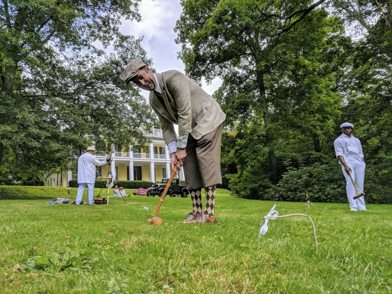 Local inaugural croquet event recalls a bygone