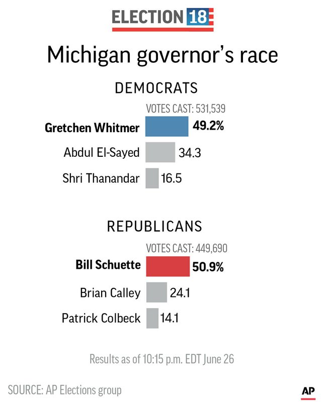 ELN MICHIGAN GOVERNOR PRIMARY
