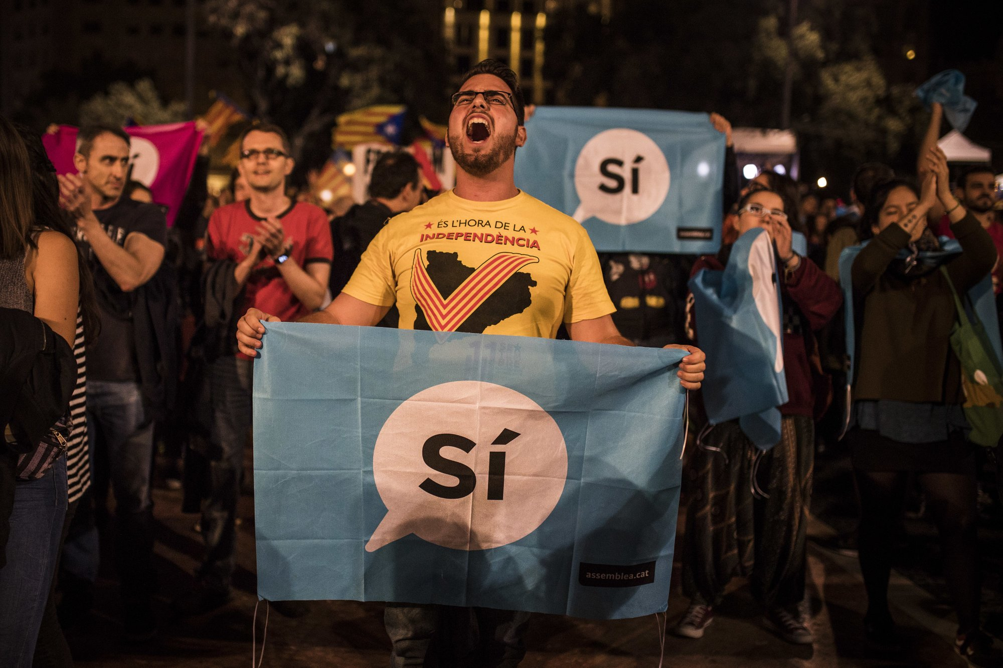 The Latest: Catalonia: 90 percent vote for independence