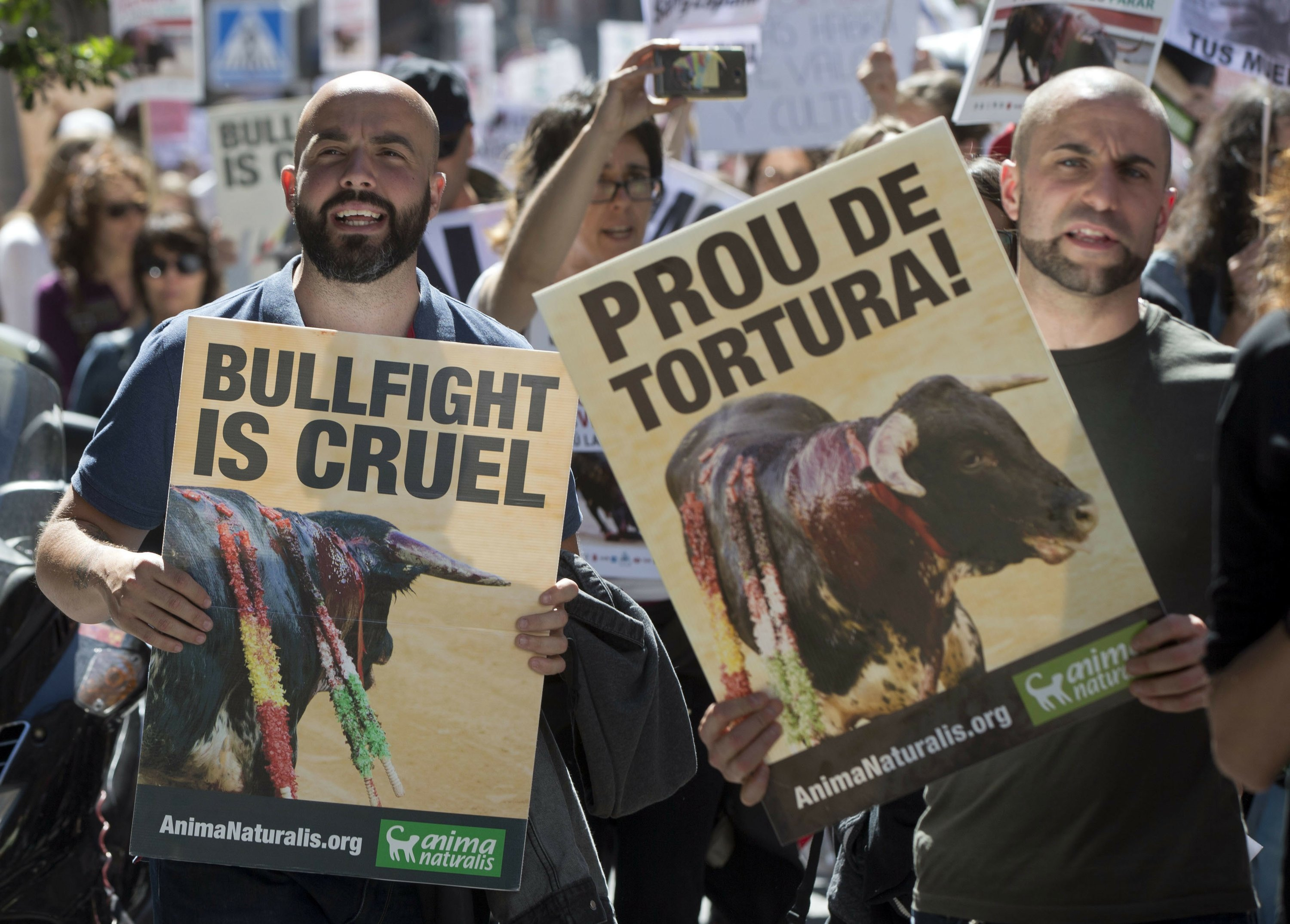 Thousands in Madrid demand end to bullfighting in Spain