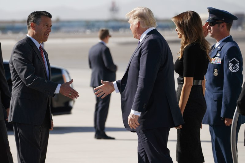 Donald Trump, Melania Trump, Brian Sandoval