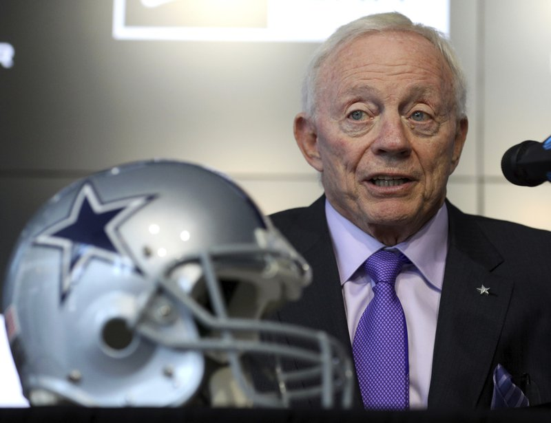 Dallas Cowboys owner Jerry Jones makes a brief statement about the  announced retirement of tight end Jason Witten during an NFL football news  conference ... 5afc92ef1