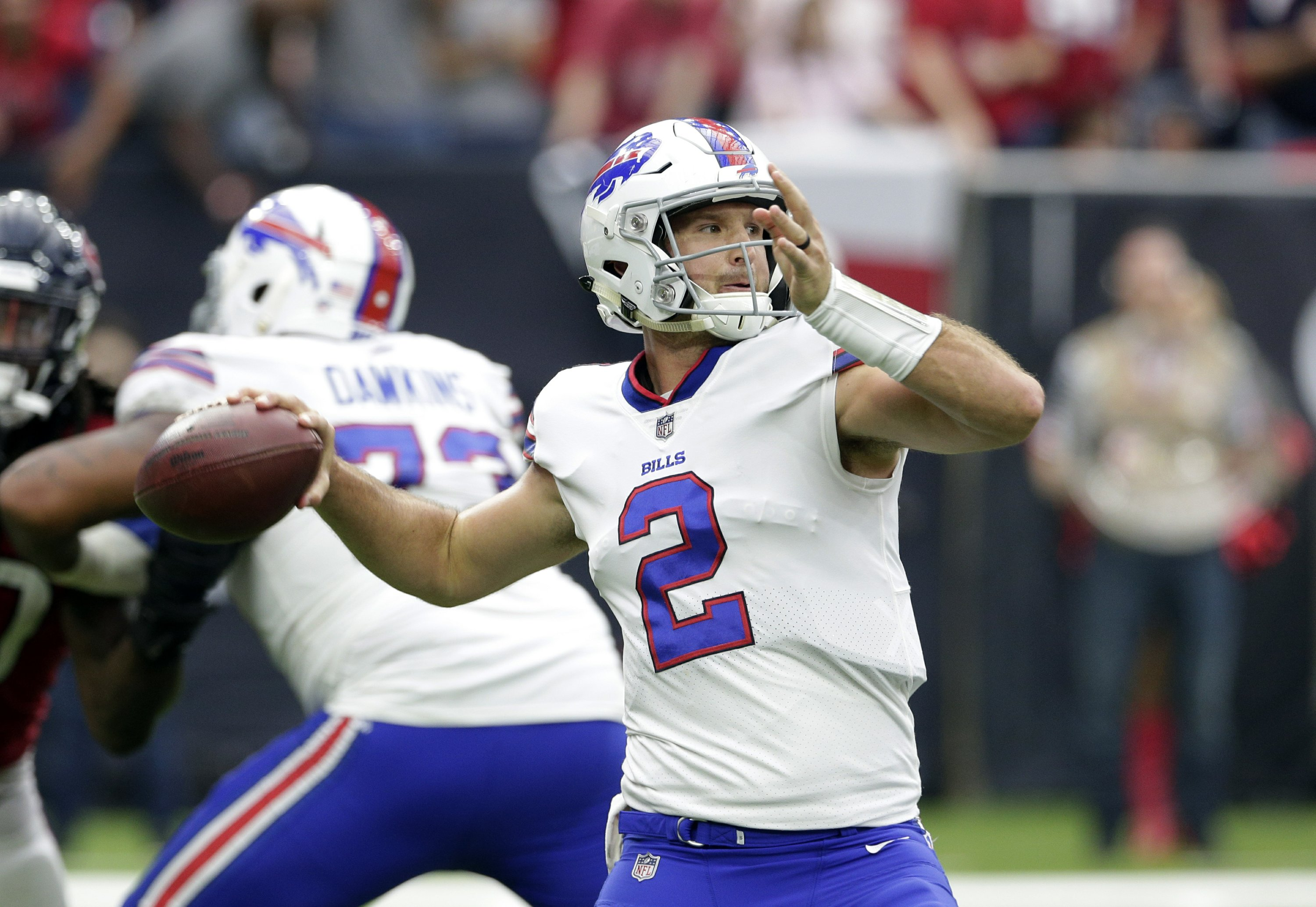 half off 9018f fb95f Bills QB Peterman seeks to put turnover-prone past behind