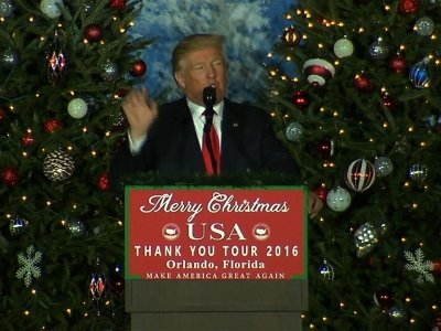 Trump Continues Thank You Tour in Florida