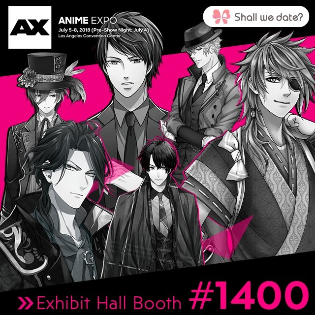 NTT Solmare's Shall we date? Series Attend Anime Expo 2018 in Los Angeles