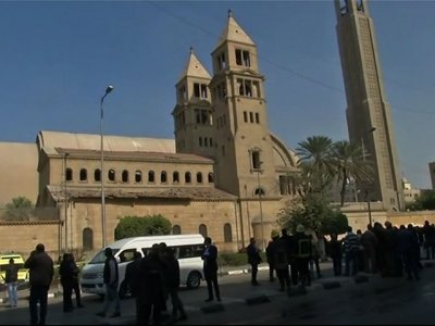 Raw: Egypt Coptic Church Blast, Over 20 Killed