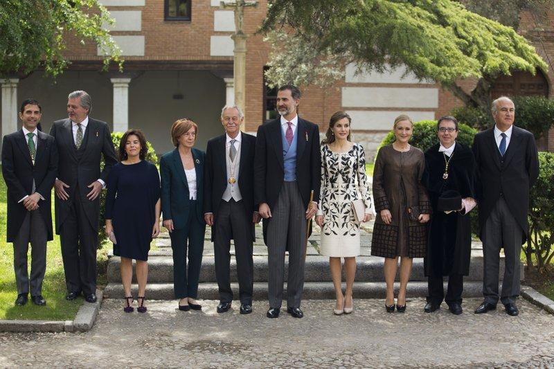 Eduardo Mendoza, King Felipe, Queen Letizia, Ana Soler, Soraya Saenz de Santamaria