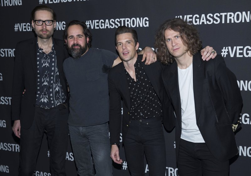 Mark Stoermer, Ronnie Vannucci, Brandon Flowers, Dave Keuning