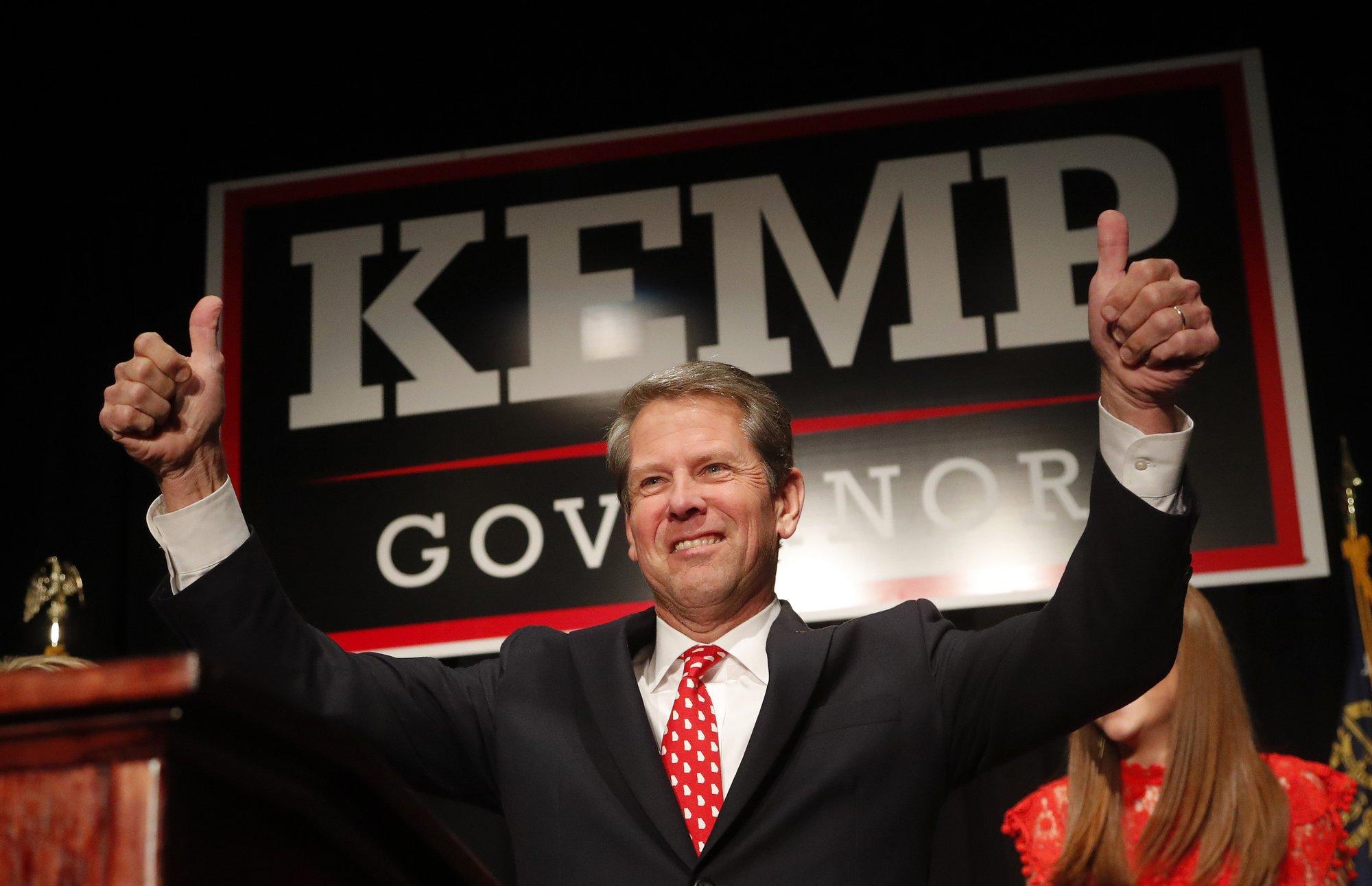 abrams kemp await more ballots in georgia governor s race