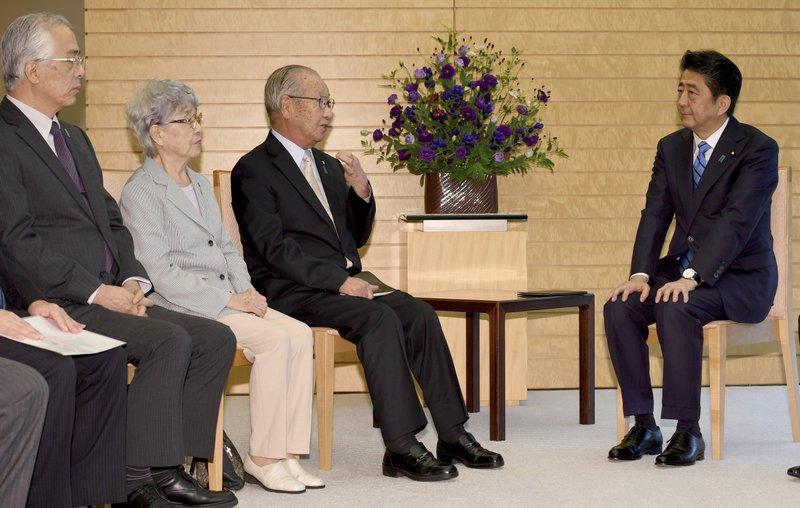 Shinzo Abe, Shigeo Iizuka, Sakie Yokota