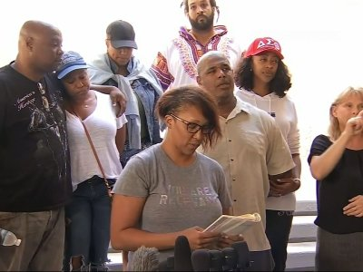 Relatives of shooting victim express grief