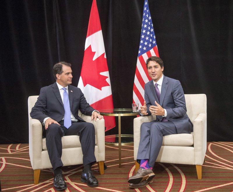 Justin Trudeau, Scott Walker