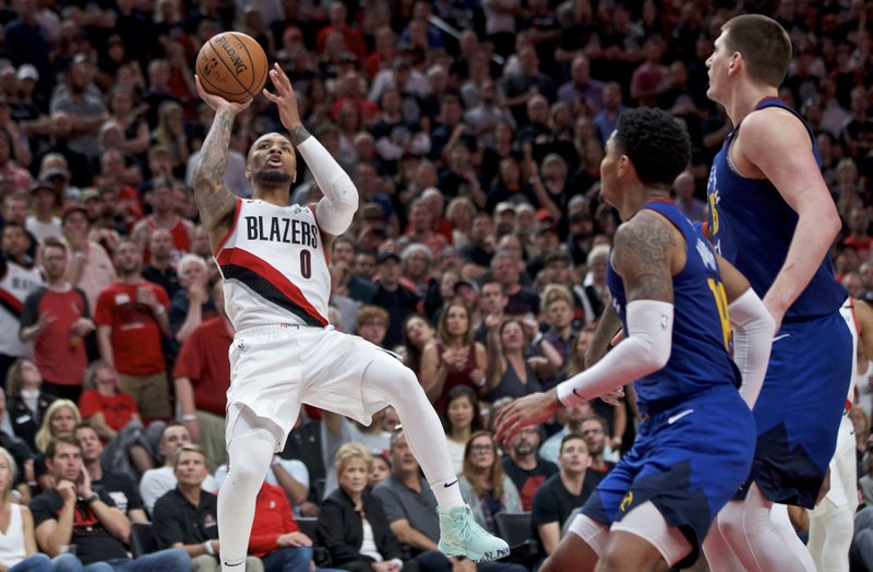 2f45aaee72c Blazers force Game 7 with 119-108 victory over Denver