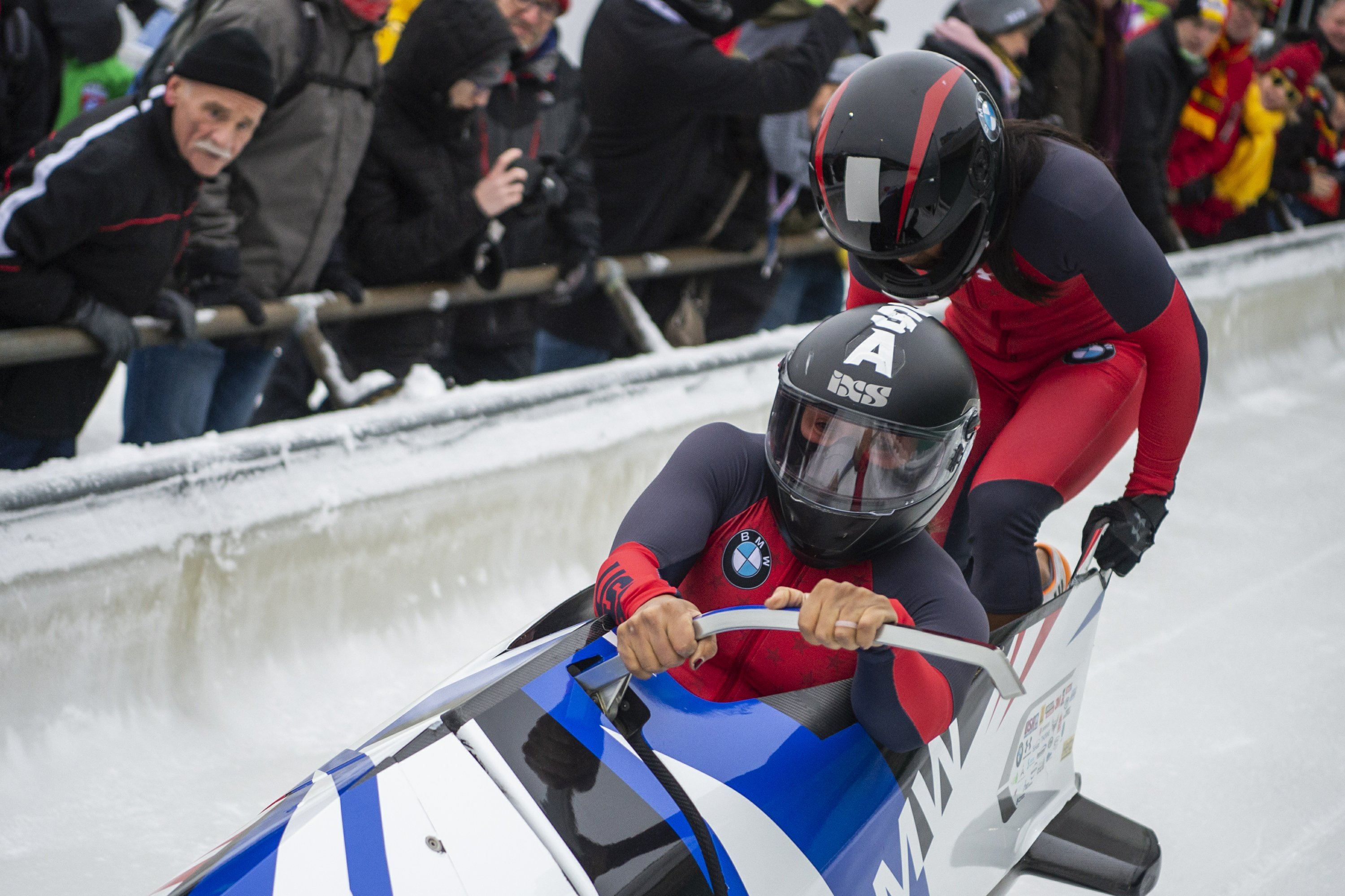 Germany sweeps golds, Meyers Taylor doubles up in bobsled