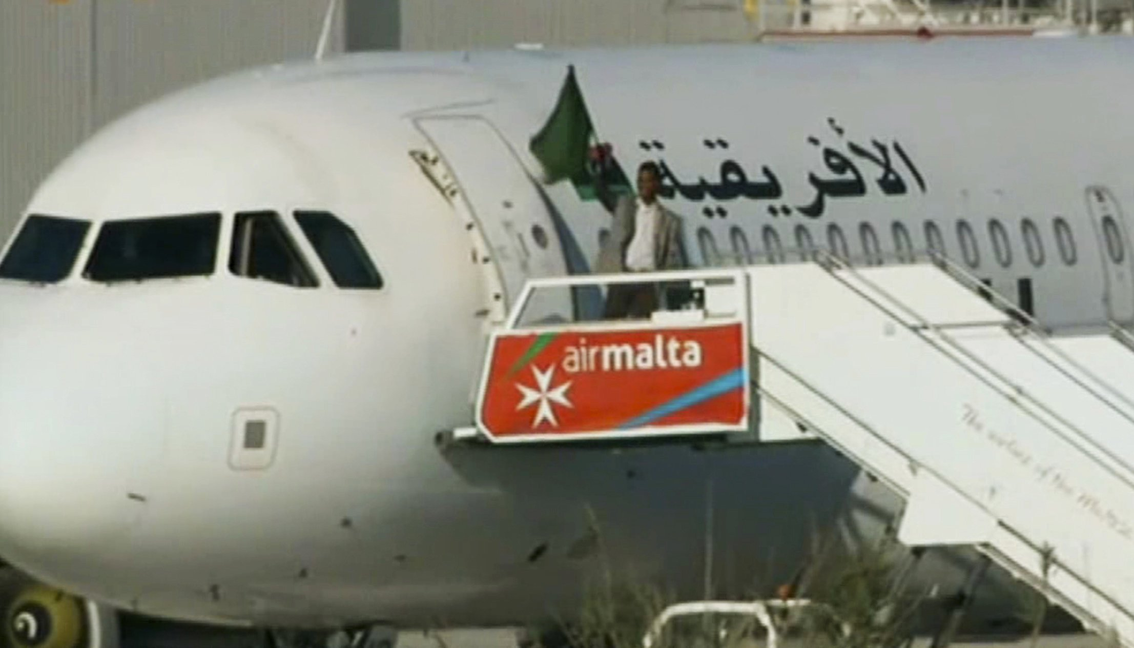 Malta plane hijacking ends peacefully; 2 Libyans surrender