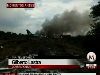 Raw: All Survive Crash of Mexican Jetliner