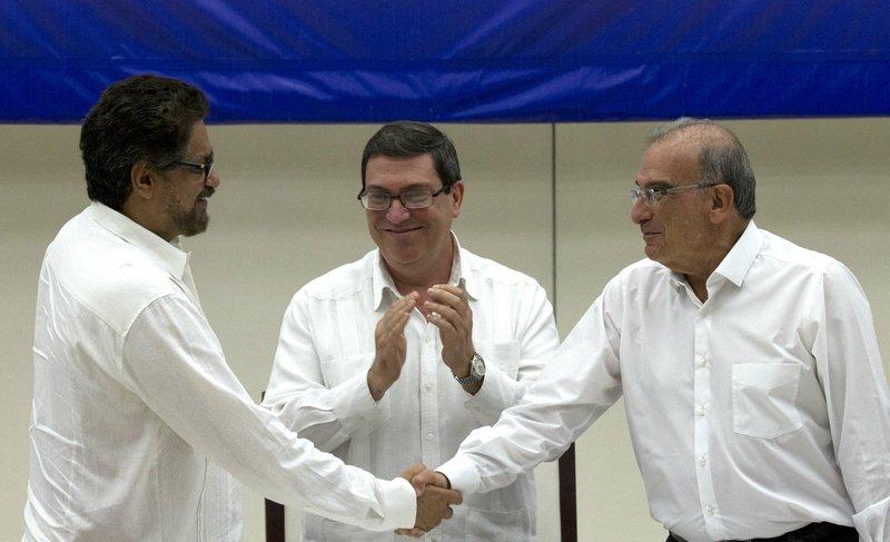 Humberto de la Calle, Ivan Marquez, Bruno Rodriguez
