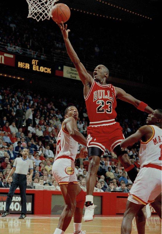 Michael Jordan, Otis Thorpe, Vernon Maxwell