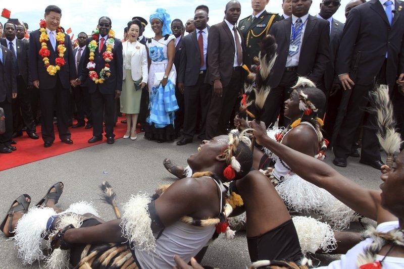 Xi Jinping, Robert Mugabe, Peng Liyuan, Grace Mugabe