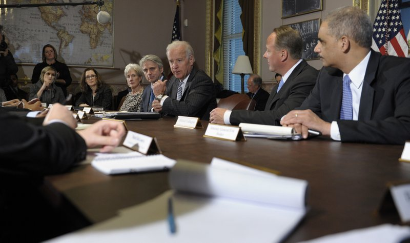 Joe Biden, Eric Holder, Michael Gallagher, Kathleen Sebelius, John Riccitiello