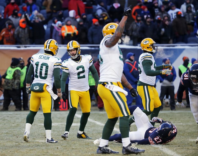 c9ffd2bc6fd Packers overcome cold, late rally to beat Bears 30-27