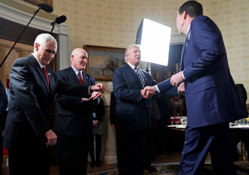 Mike Pence, Joseph Clancy, Donald Trump, James Comey