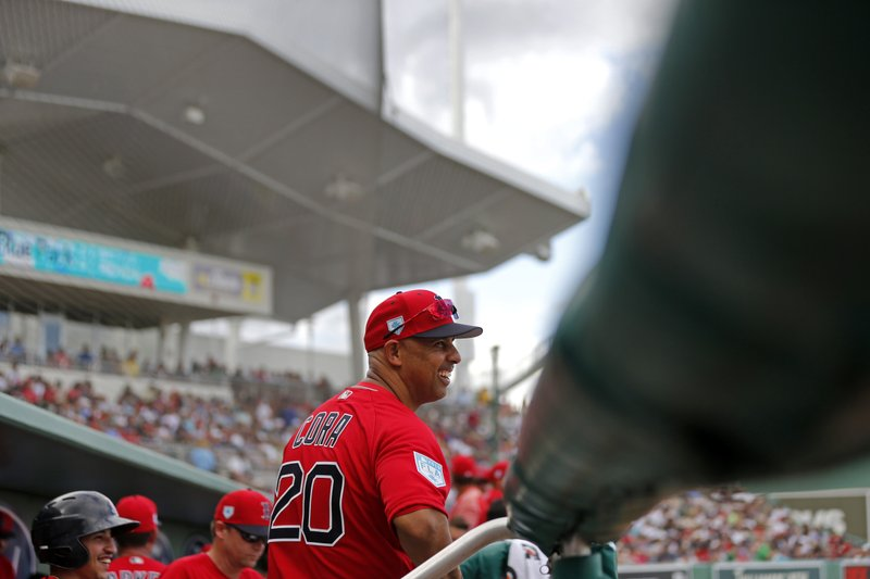 d1e127d3142c9 Cora hoping to repeat in sophomore season in Red Sox dugout