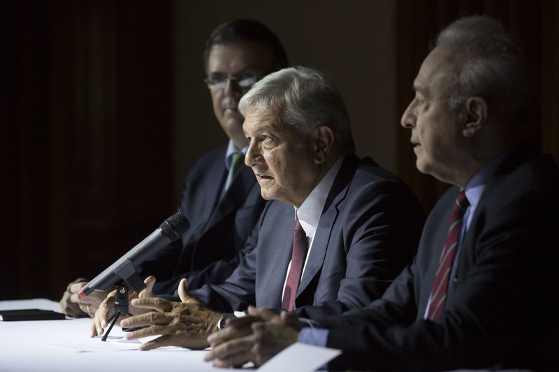 Andres Manuel Lopez Obrador, Marcelo Ebrard, Hector Vasconcelos