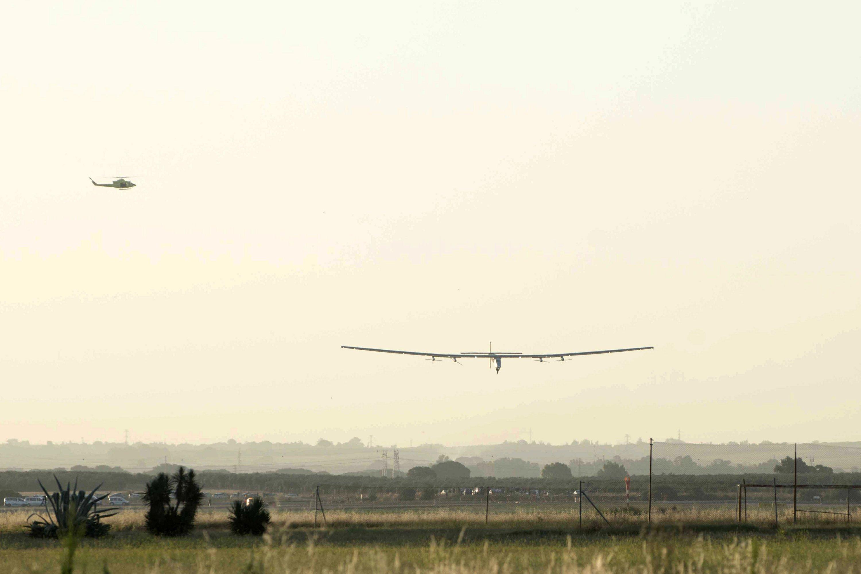 Solar-powered plane leaves Spain for Egypt