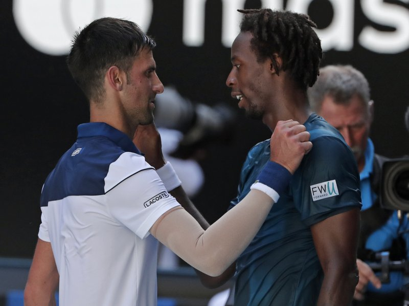 Gael Monfils, Novak Djokovic